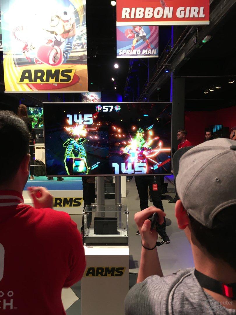 Arms ist eine Kreuzung aus Street Fighter und Boxen