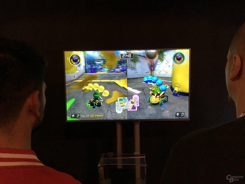 Mario Kart 8 Deluxe ist auch im Split-Screen spielbar