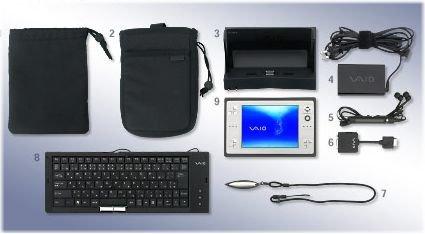 Sony Viao-U Lieferumfang