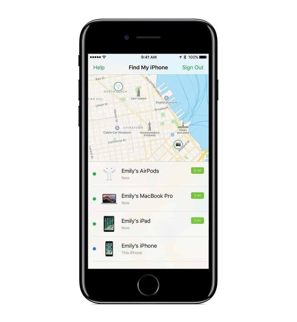iOS 10.3 – AirPod-Suche