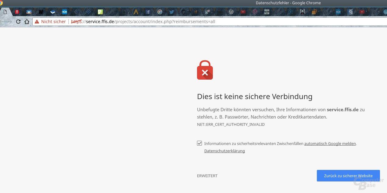 Chrome 56 warnt vor unsicheren HTTP-Seiten
