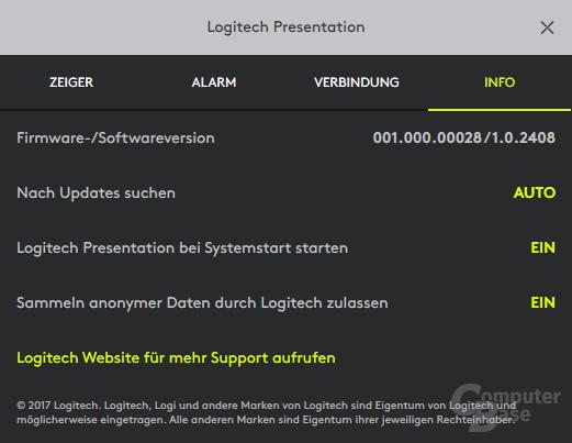 Logitech sammelt ab Werk unbekannte Daten des Nutzers