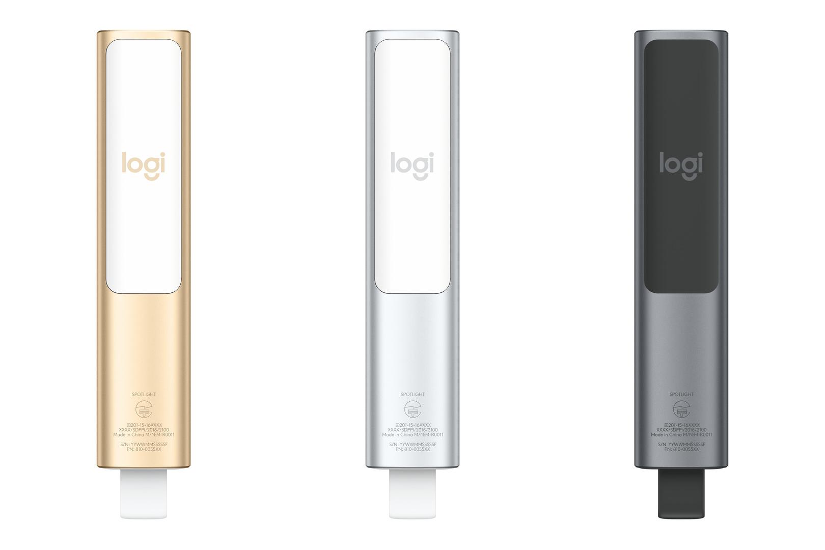 Logitech Spotlight gibt es in Gold, Silber und Schwarz