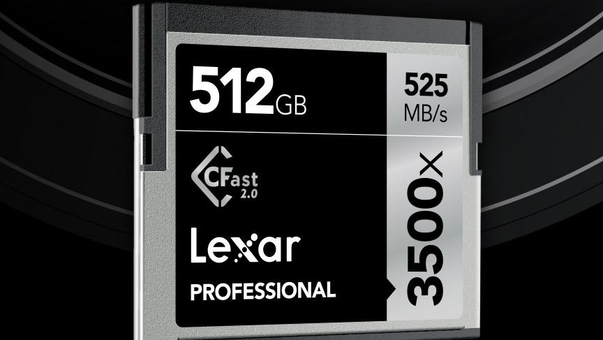 Lexar Professional 3500x CFast 2.0: 512-GB-Speicherkarte mit 525 MB/s für 1.700US-Dollar
