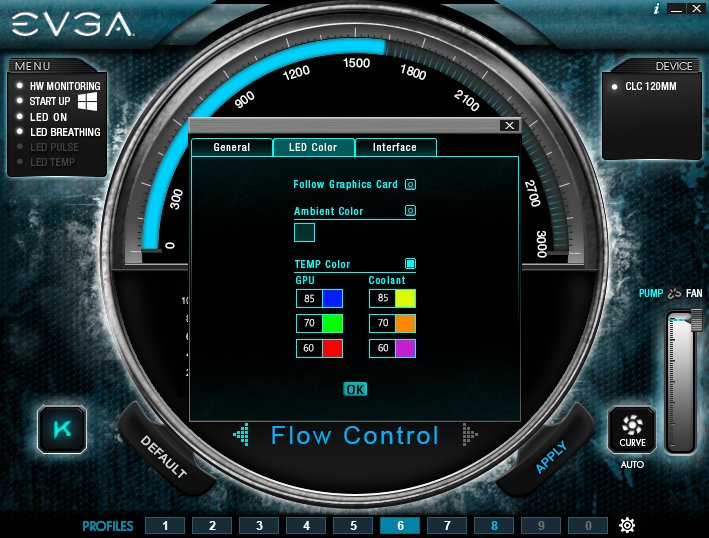 EVGA Flow Control Software