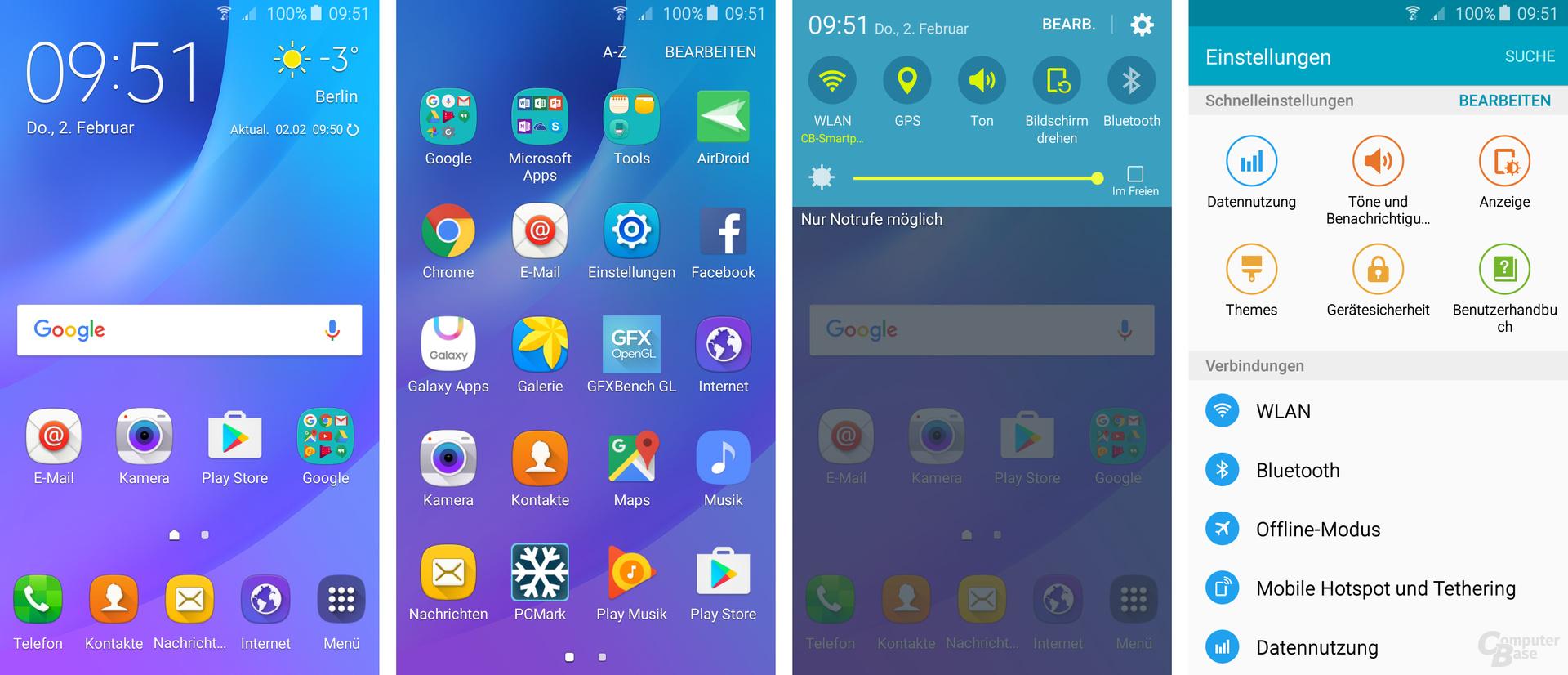 Samsung Galaxy J3: TouchWiz verändert Android vollständig