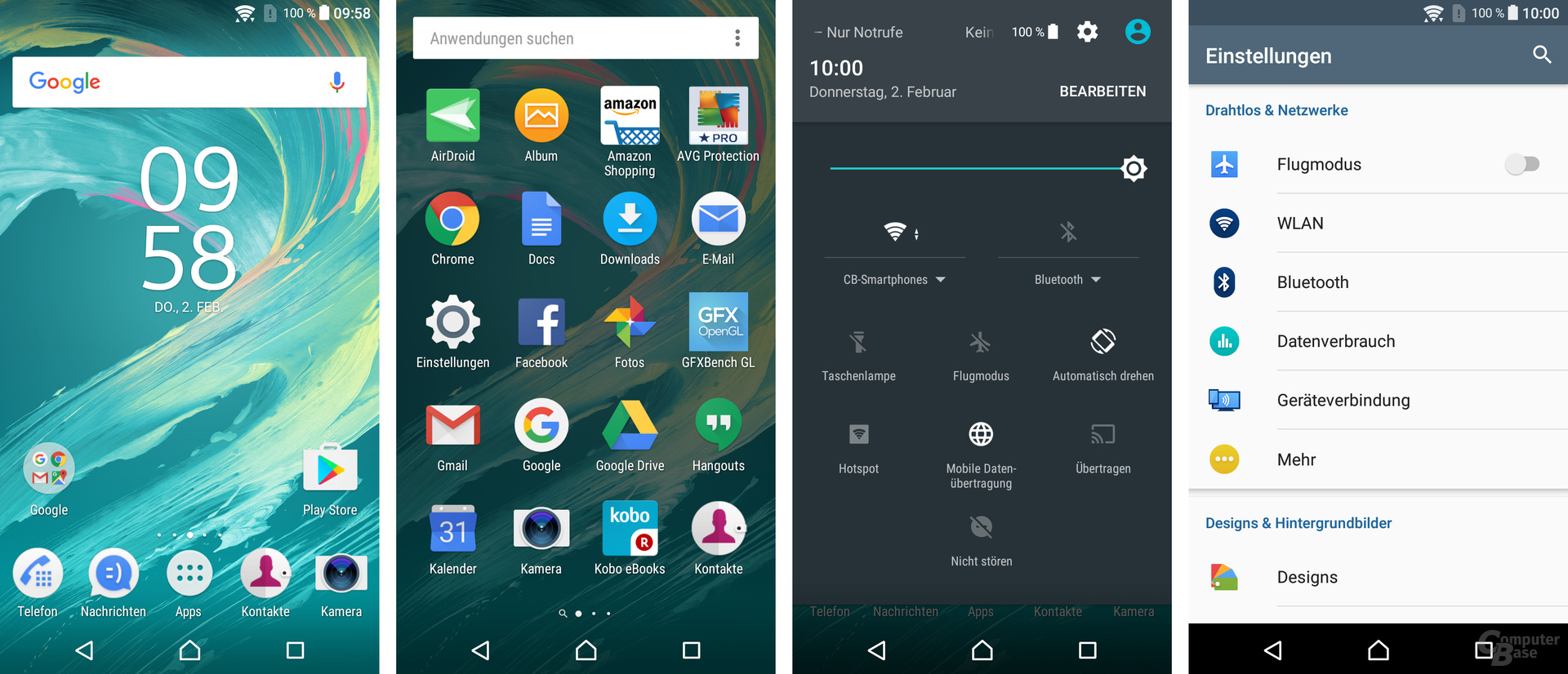 Sony Xperia E5: Stock-Android in Grundzügen noch erkennbar