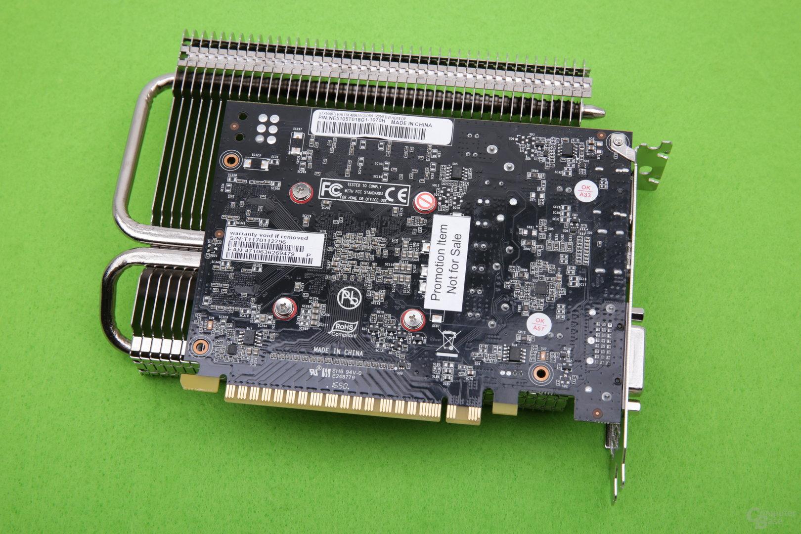 Palit GeForce GTX 1050 Ti KalmX – Rückseite