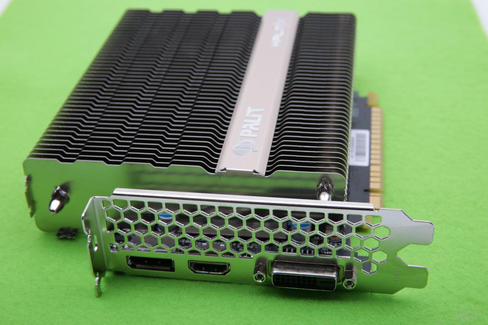 Palit GeForce GTX 1050 Ti KalmX – Anschlüsse