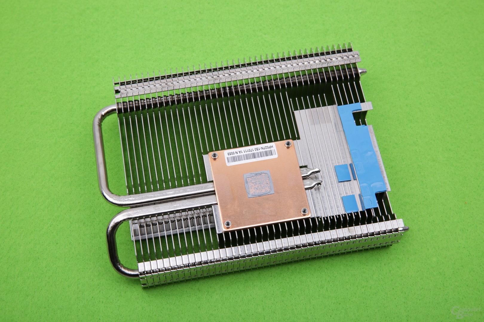 Palit GeForce GTX 1050 Ti KalmX – Kühlerrückseite