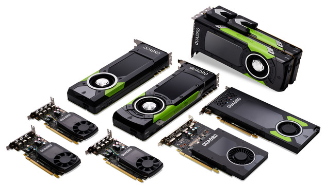 Nvidia Quadro (Pascal) mit insgesamt sechs Modellen