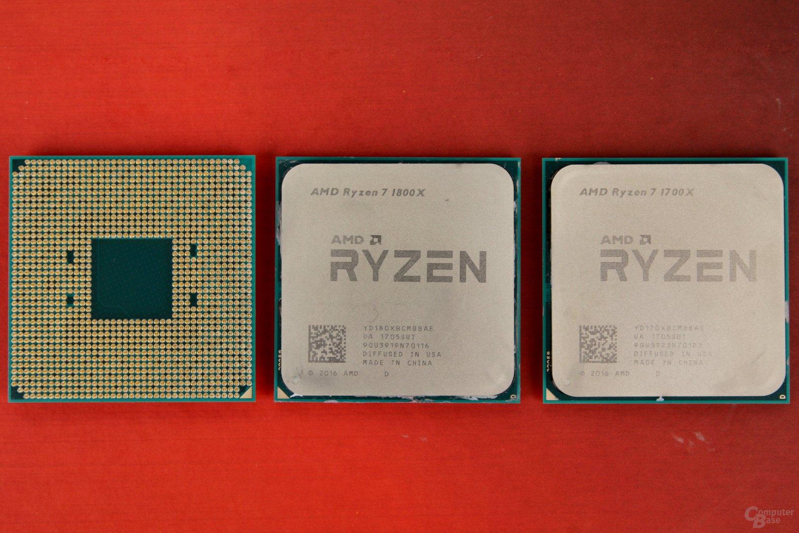 AMD Ryzen 7 1800X, 1700X und 1700 im Test