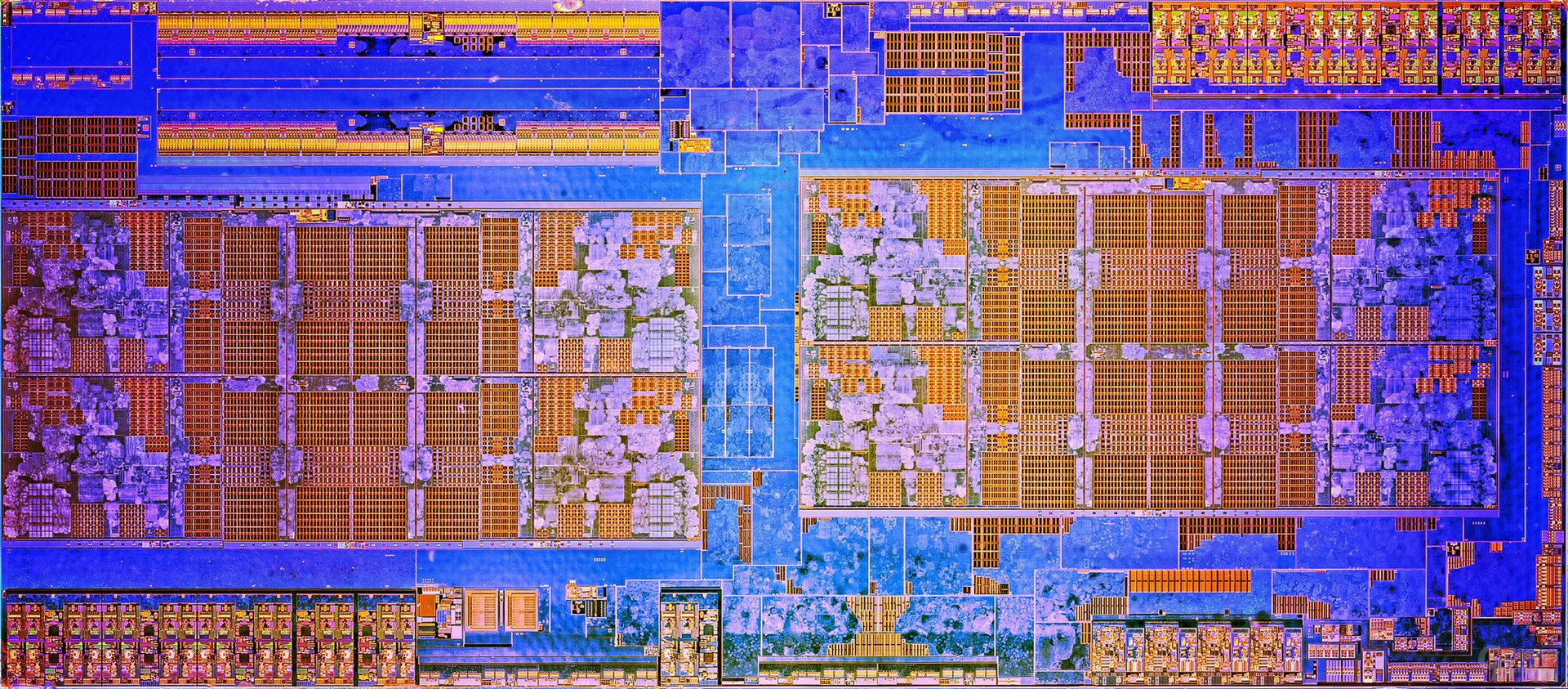 AMD Ryzen zwei CCX mit je vier Kernen