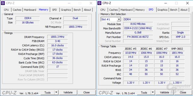 ComputerBase Ryzen Test G.Skill Trident Z DDR4-3600