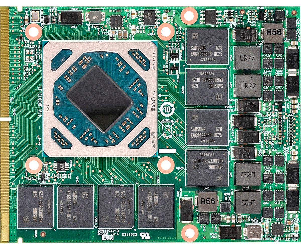 MXM-Grafikkarte mit AMD-GPU