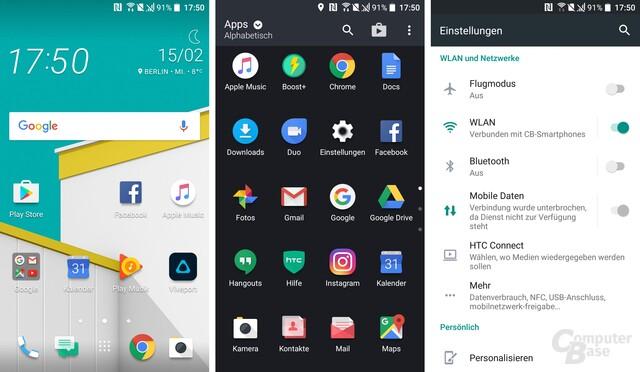 Android 6.0 mit Sense auf dem HTC U Play