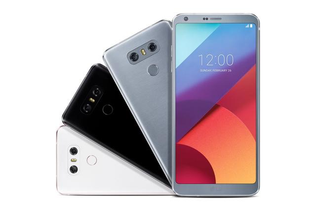 LG G6 in Mystic White, Astro Black und Ice Platinum