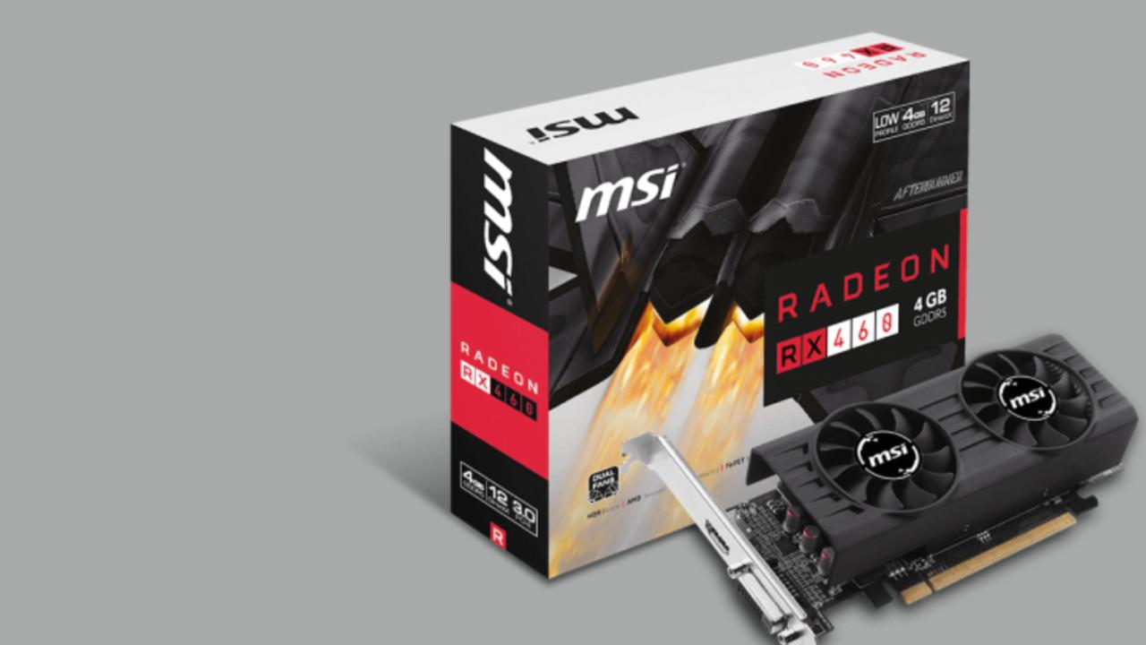 MSI Radeon RX 460 2GT LP: Erste Low-Profile-Grafikkarte mit AMD Polaris