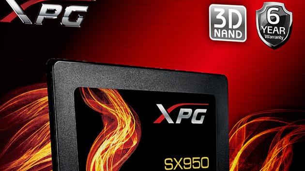 Adata XPG SX950: SATA-SSD mit MLC-3D-NAND und 6 Jahren Garantie