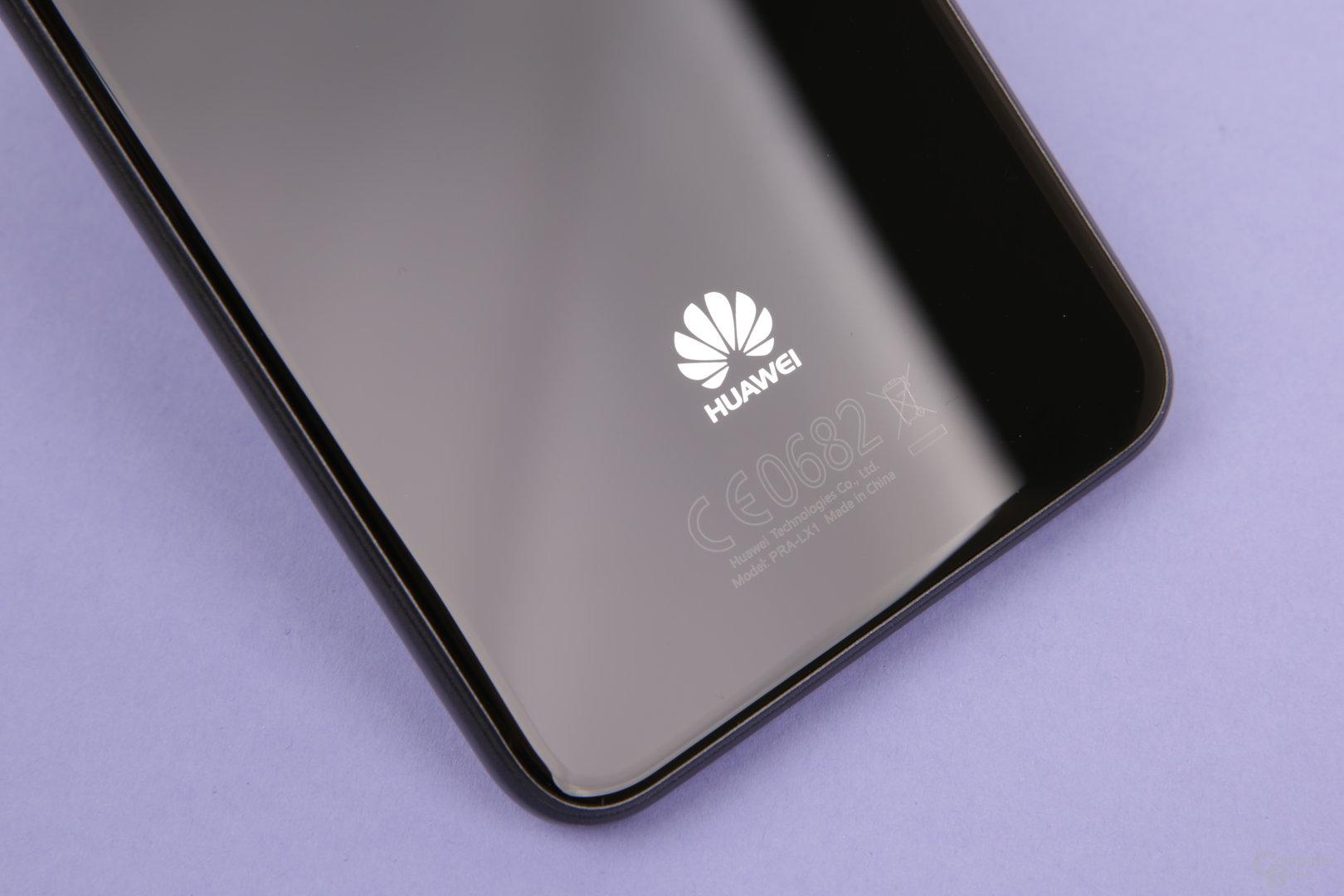 Huawei-Logo im unteren Bereich der Rückseite