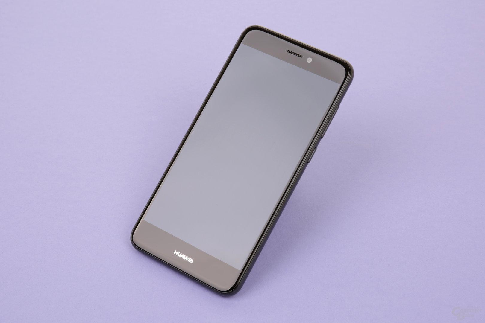 Schlichte Vorderseite mit abgerundetem Glas und Huawei-Logo