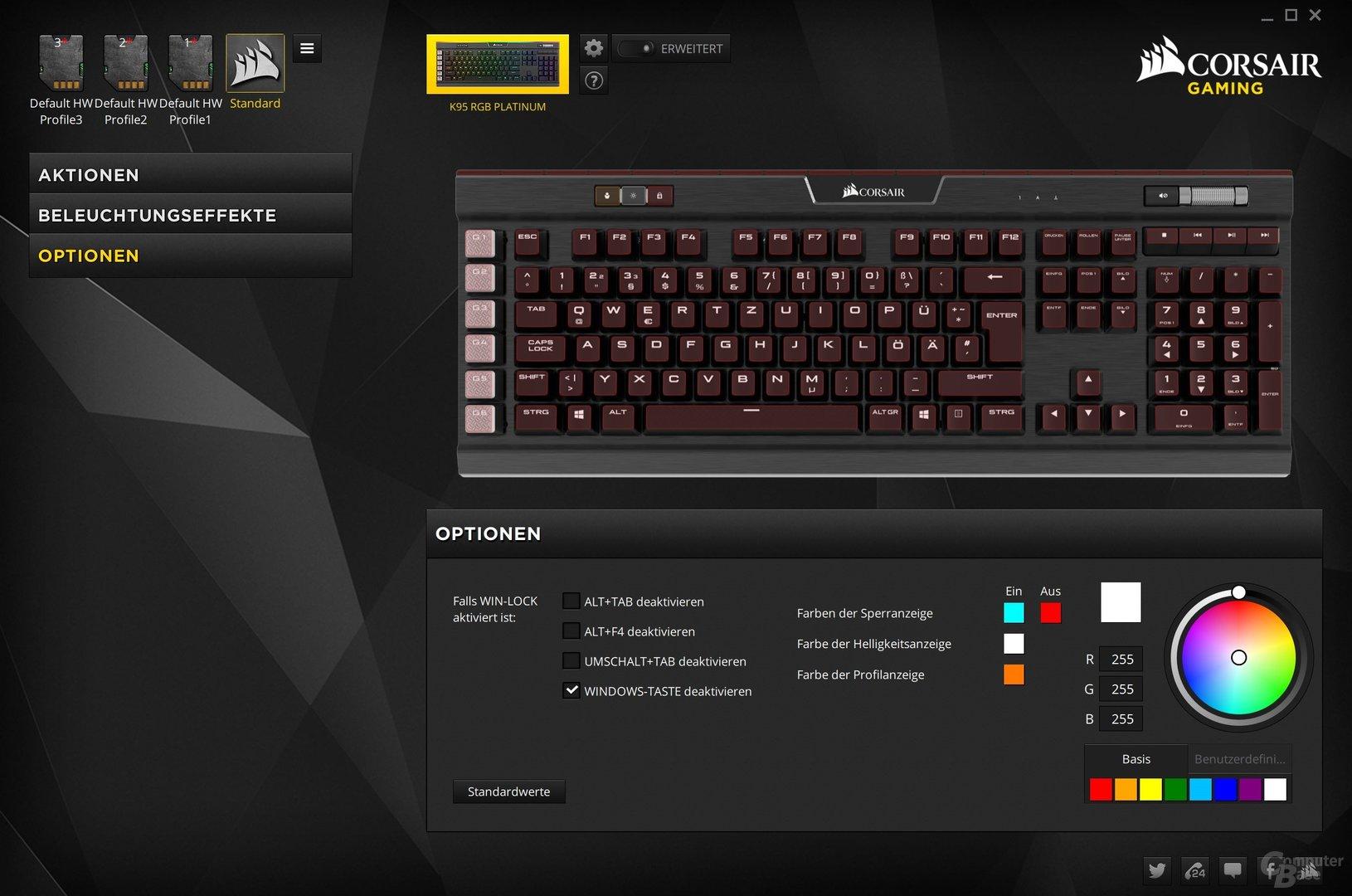 Der Gaming-Modus kann mehrere Shortcuts deaktiveren