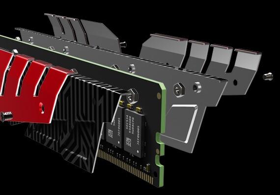 Team Group T-FORCE Dark – vierteiliges Wärmeleitblech als Alleinstellungsmerkmal bei DDR4-RAM