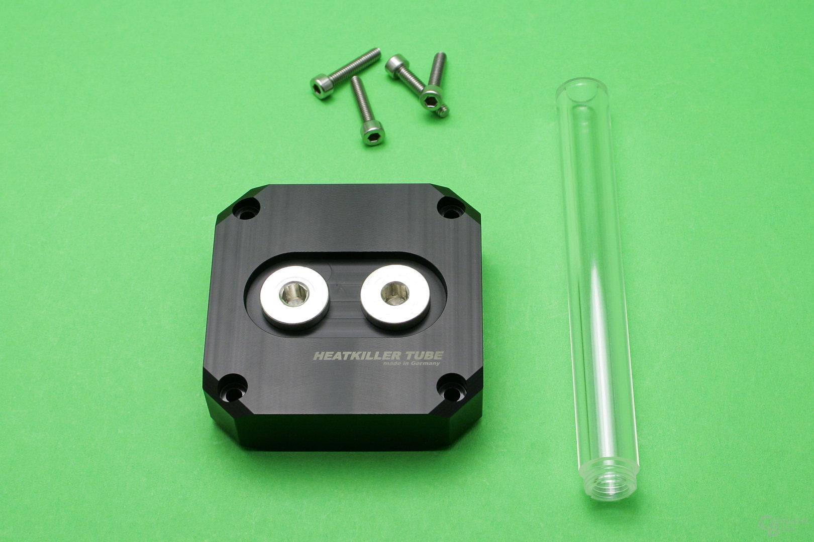 Watercool Heatkiller Tube D5: Umrüst-Kit für einen Einlass im Deckel
