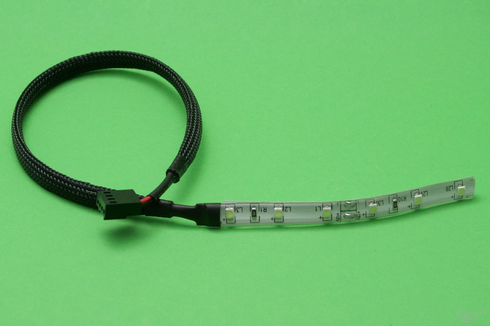 Watercool Heatkiller Tube D5: Ein LED-Band als optionales Zubehör