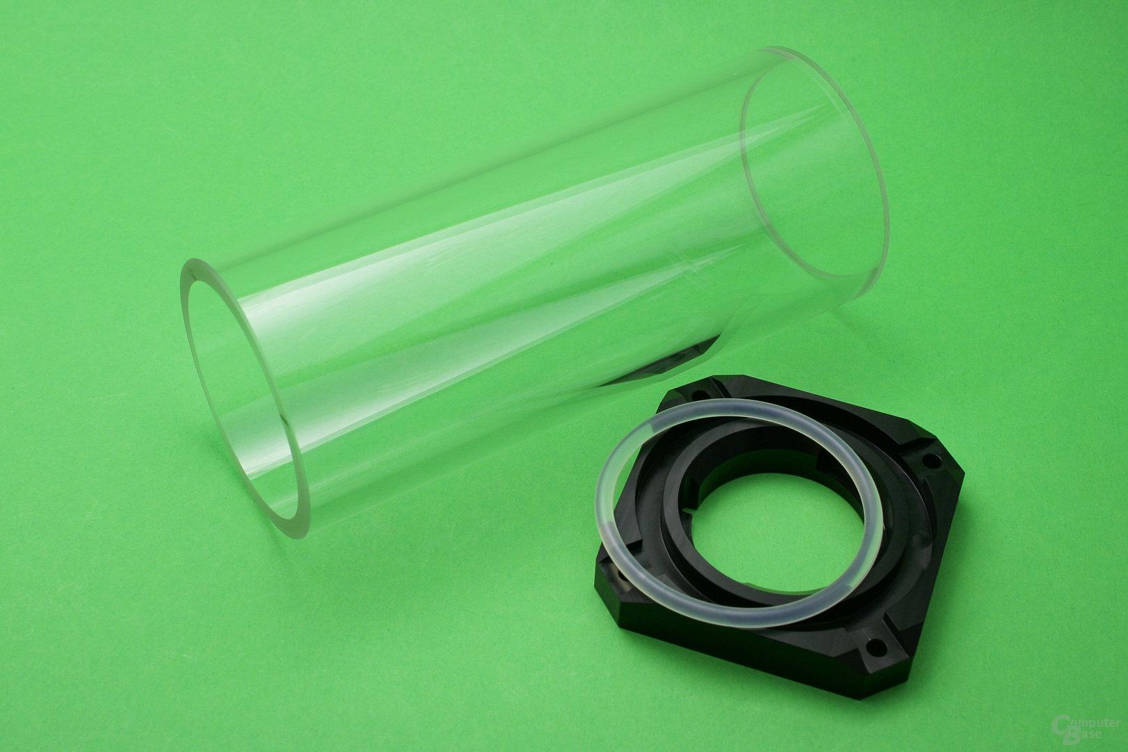 Watercool Heatkiller Tube D5: Glasröhre und Dichtung