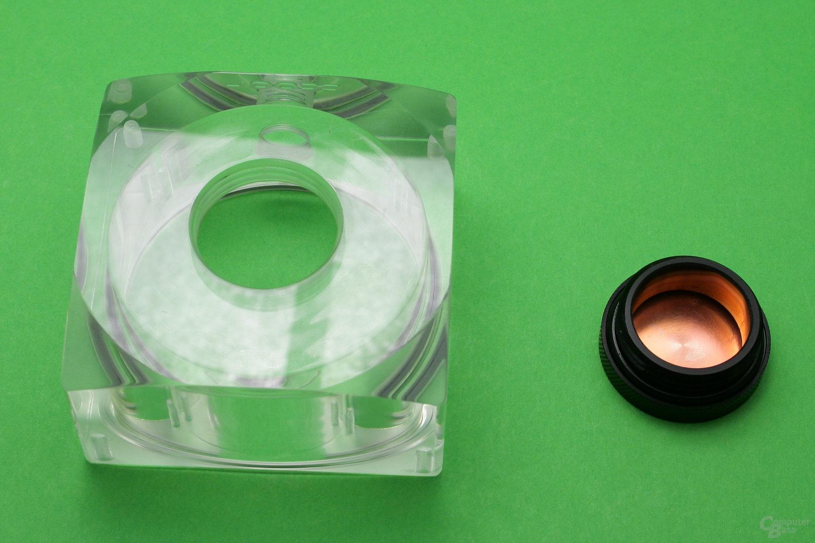Alphacool Eisdecke Ausgleichsbehälter für DDC/D5: Große Öffnung zum Befüllen