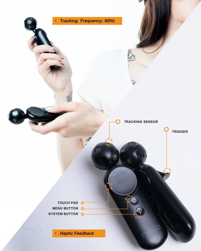 Die Controller erinnern an PlayStation Move