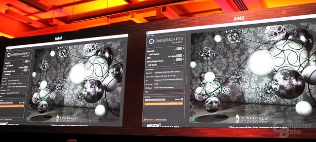 AMD Ryzen 7 vs. Intel Core i7 in Cinebench