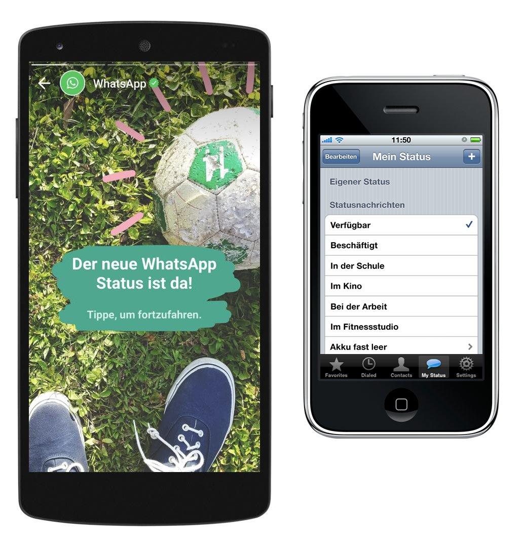 Die Veränderung des WhatsApp-Status nach 8 Jahren