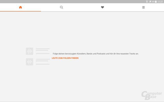 SoundCloud Go begrüßt seine Nutzer mit einer leeren Seite