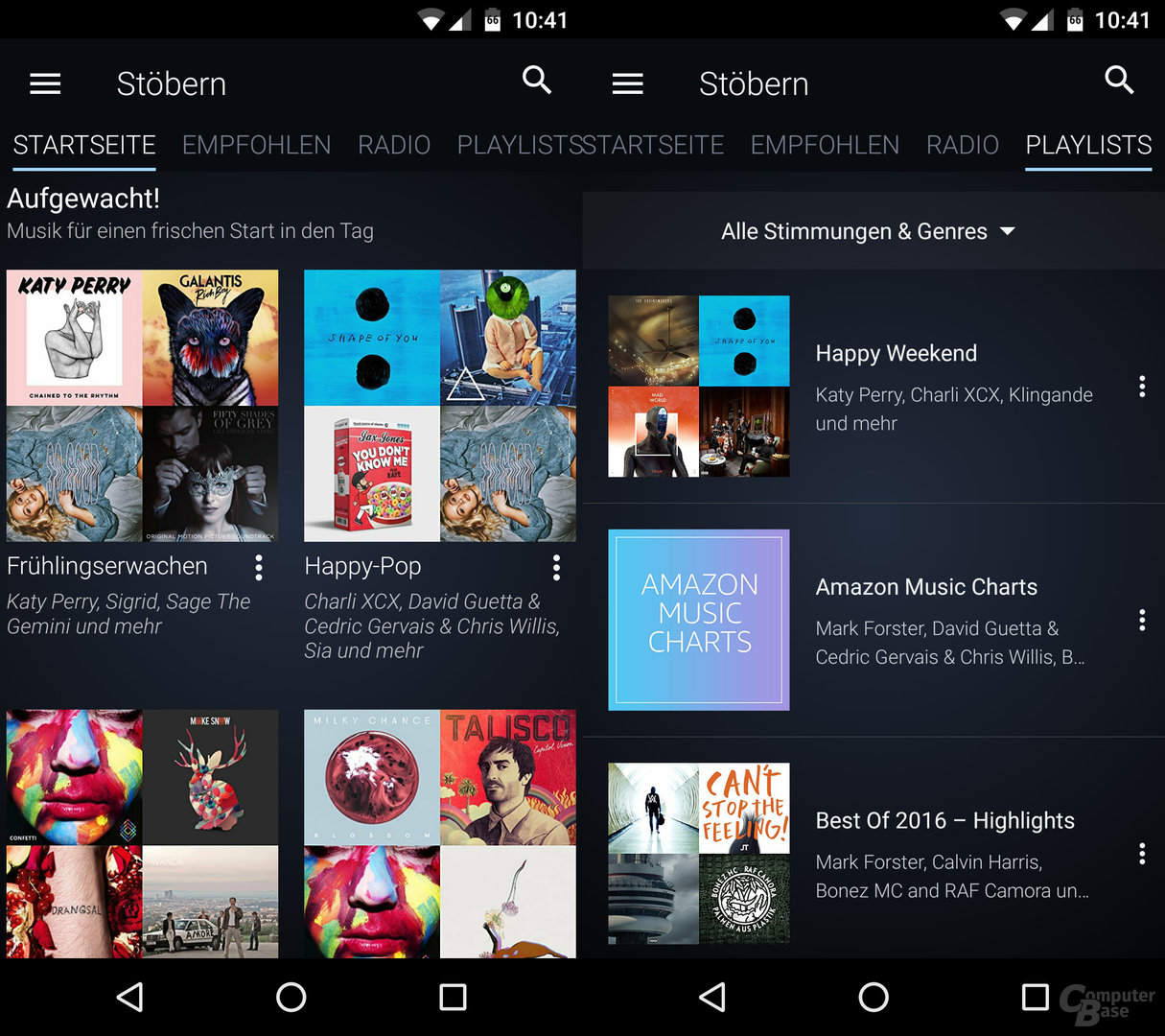 Amazon Music Unlimited auf einem Android-Smartphone