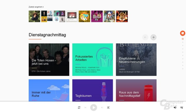 Google Play Music per Browser – Luftig und langweilig