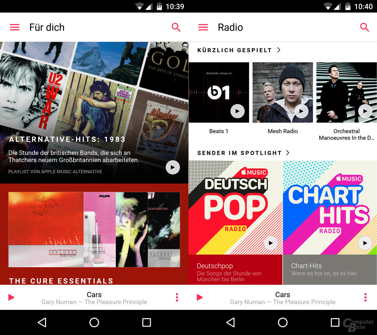 Apple Music per Android: Halbgare Umsetzung