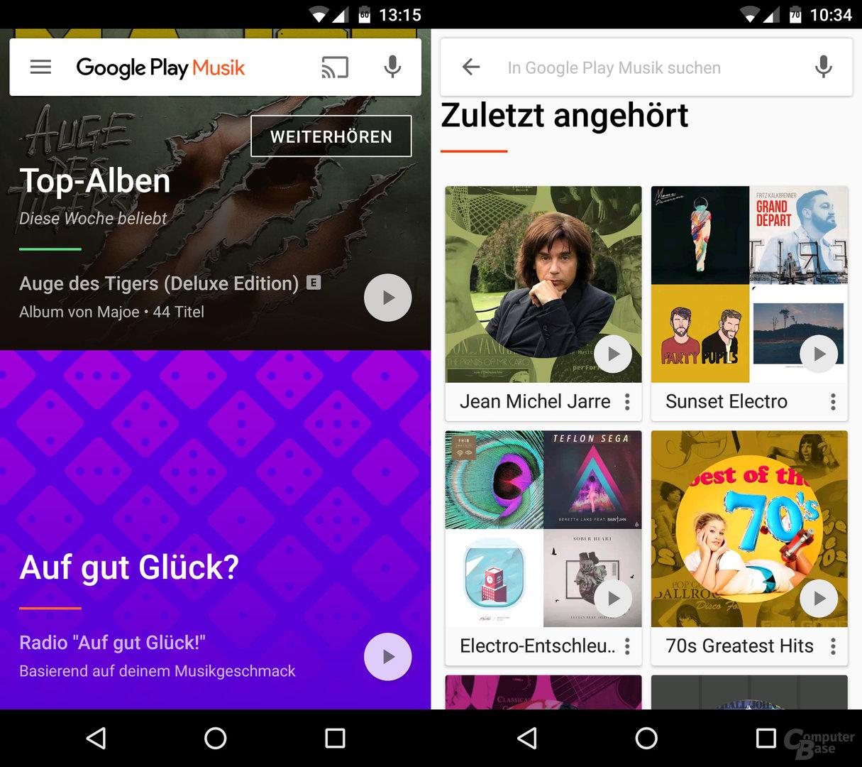 Google Play Music auf einem Android-Smartphone