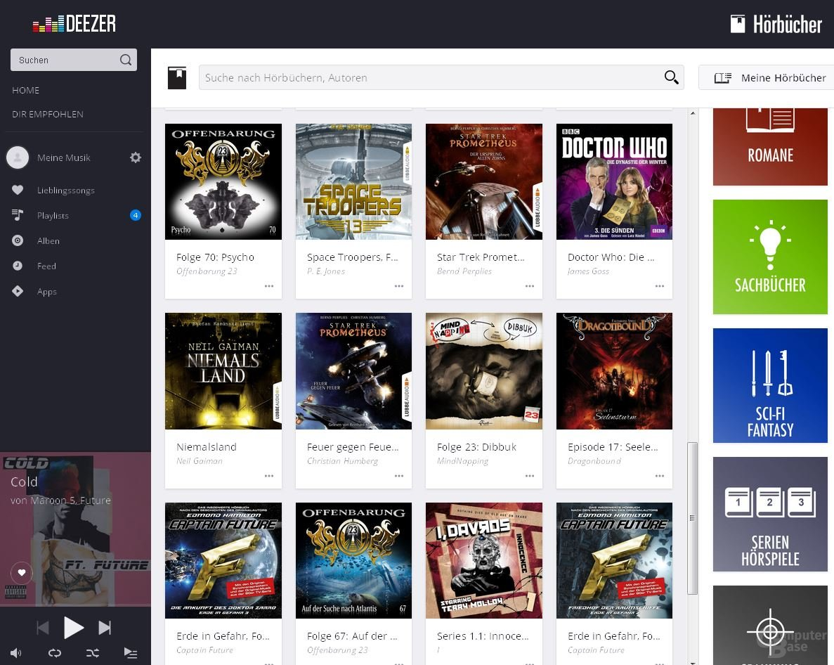 Deezer im Browser