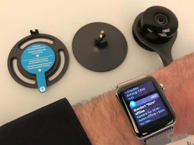 Nest Cam Indoor & Outdoor: Benachrichtigung auf der Apple Watch