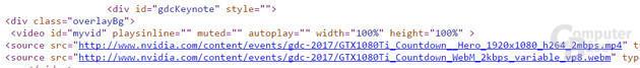 Der Quelltext nennt explizit GeForce GTX 1080 Ti