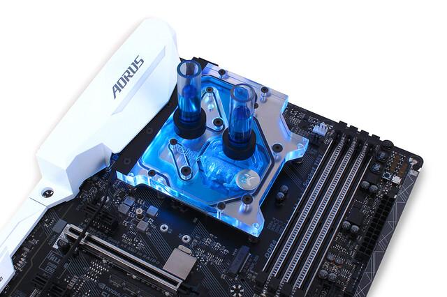 EK-FB GA Z270X Monoblock: Kombinierter CPU- und VRM-Kühler mit Beleuchtung