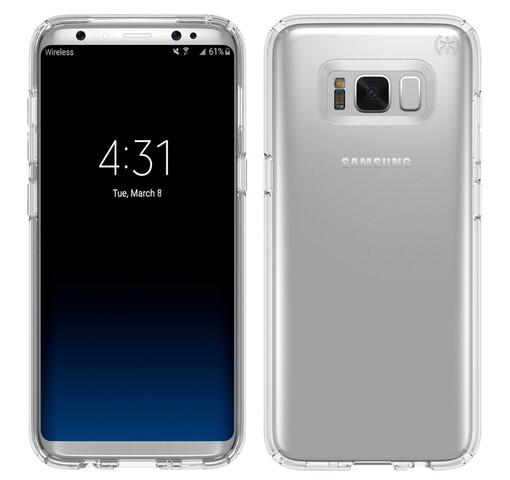 Design des Samsung Galaxy S8(+) in einer Hülle