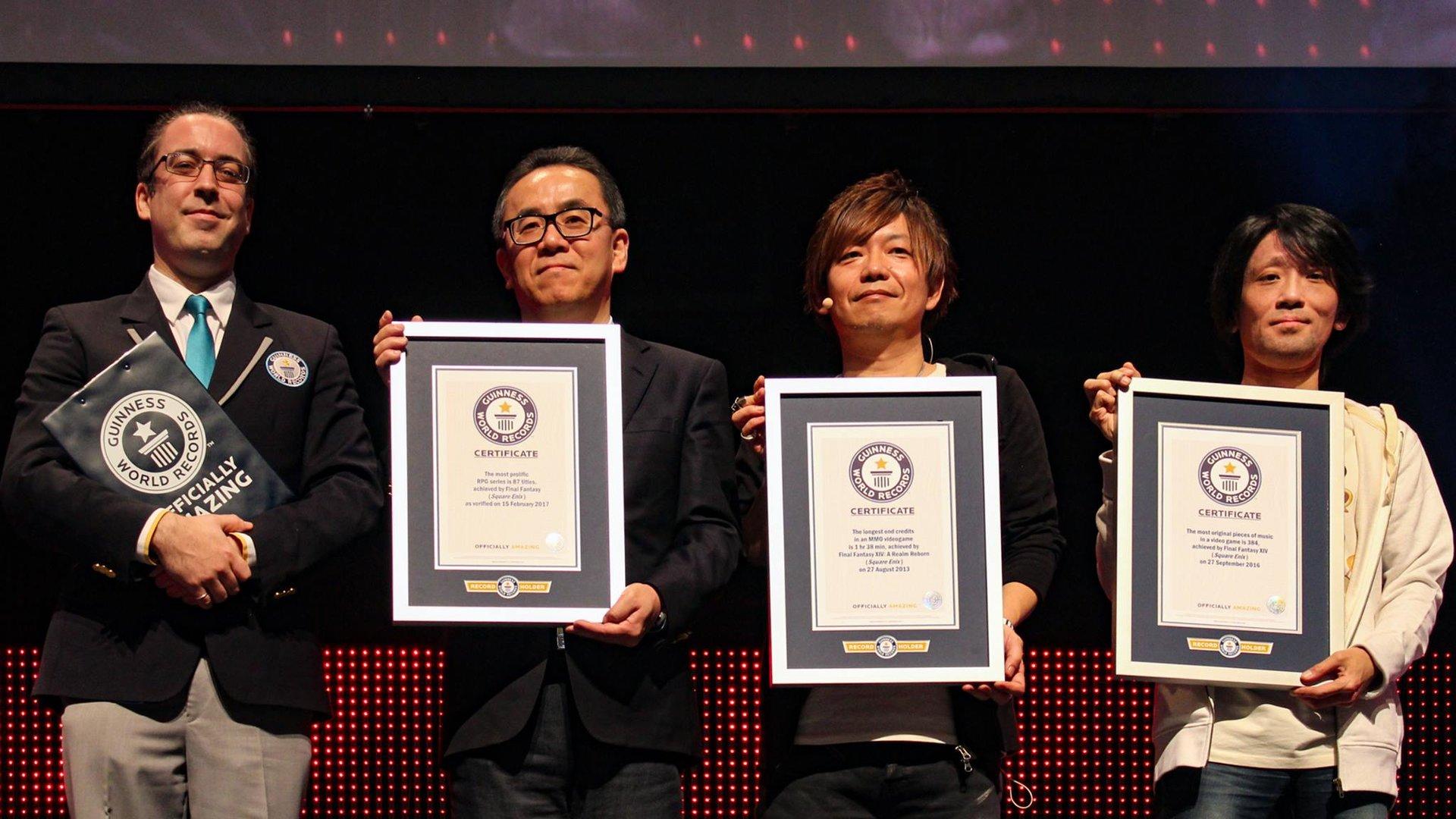 Guinness-Rekord Urkundenübergabe