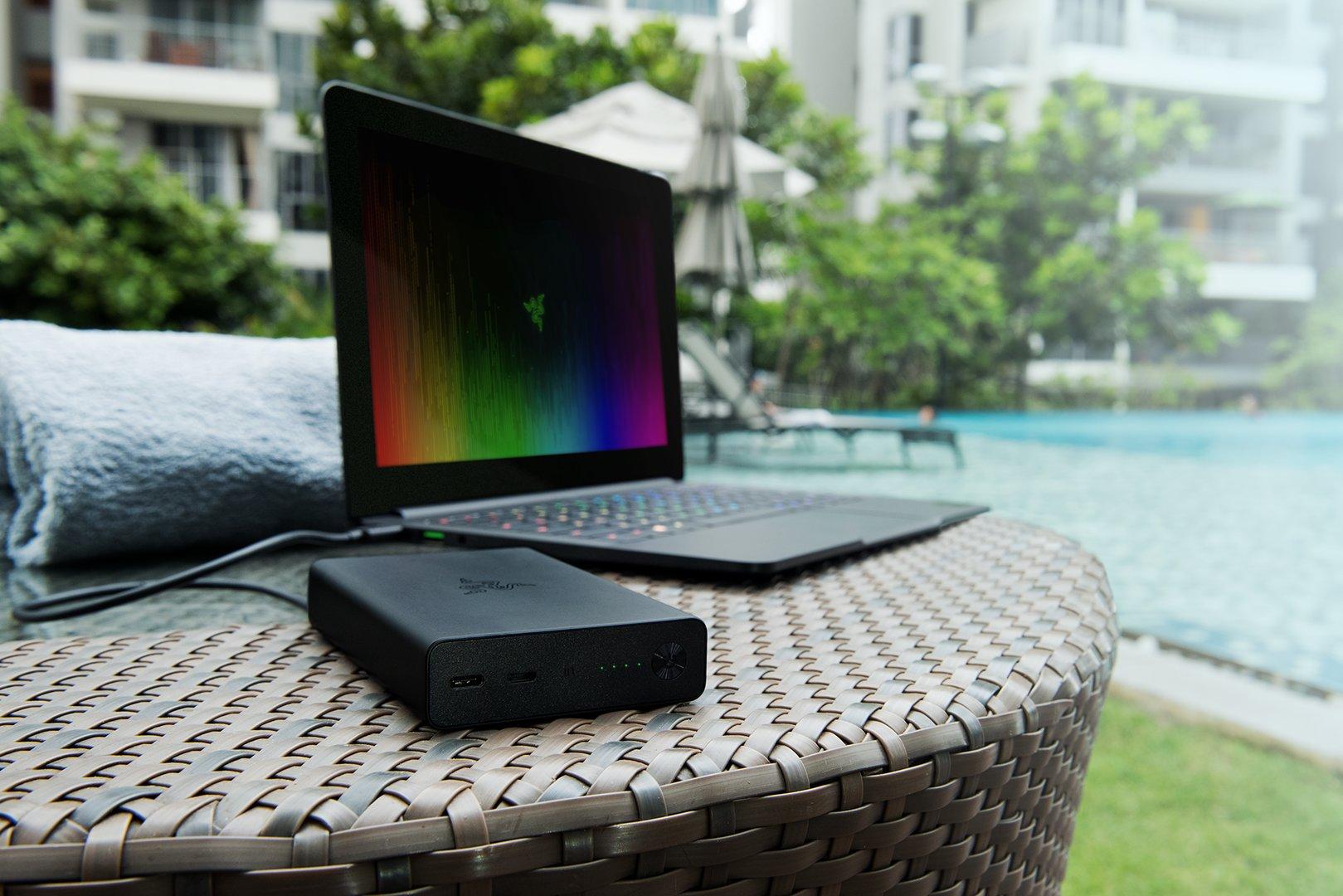 Razers Power Bank ist auch mit dem Dell XPS 13 oder ASUS Zenbook kompatibel