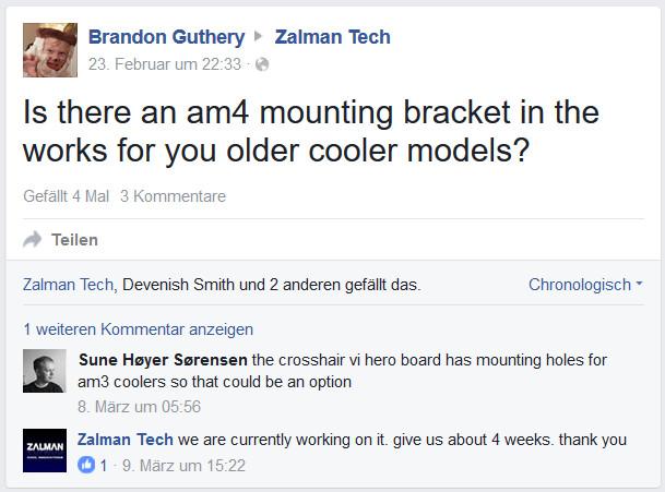 Angeblich arbeitet Zalman an AM4-Kit