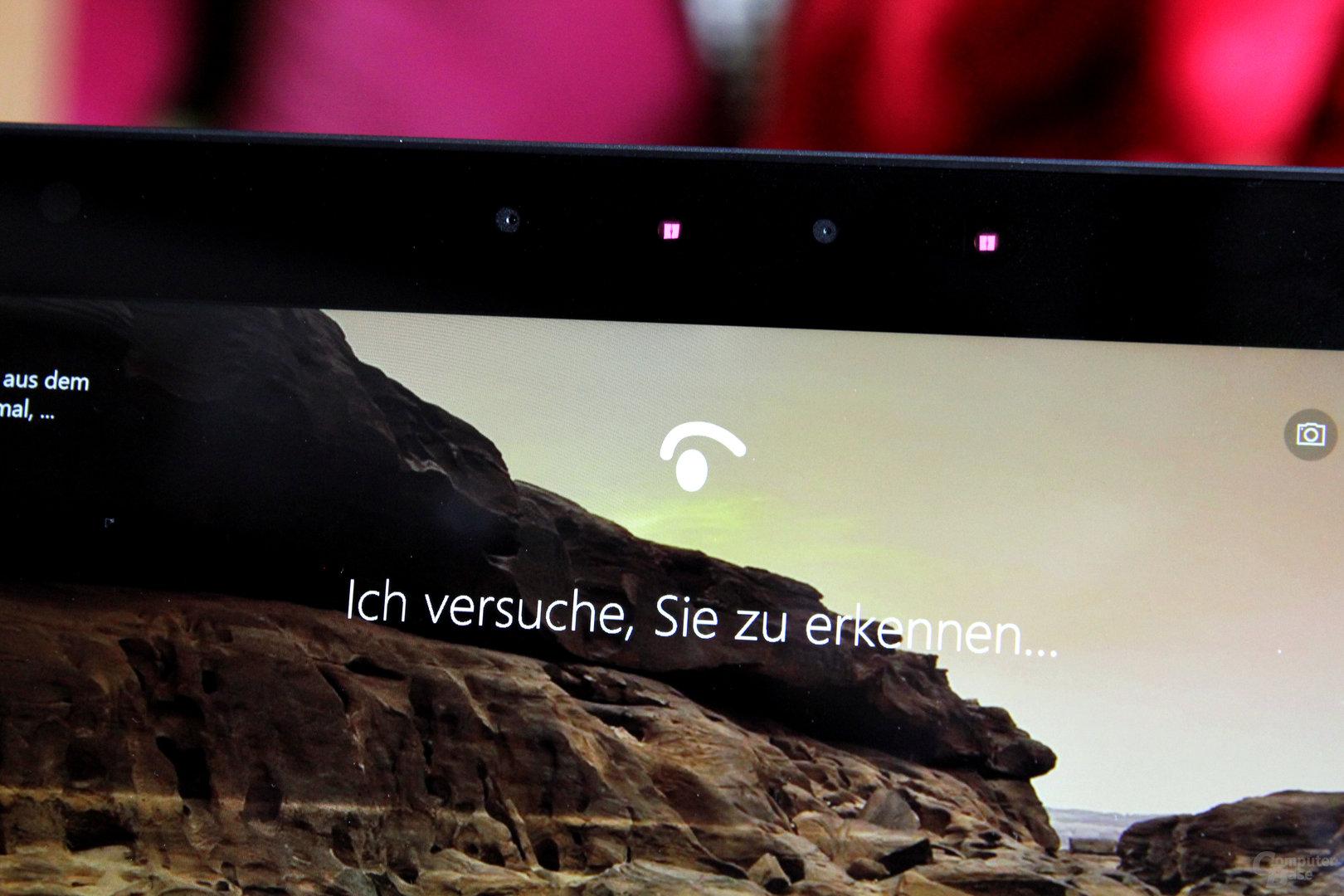 Bei Windows Hello verifizieren zwei Infrarot-Kameras den Nutzer
