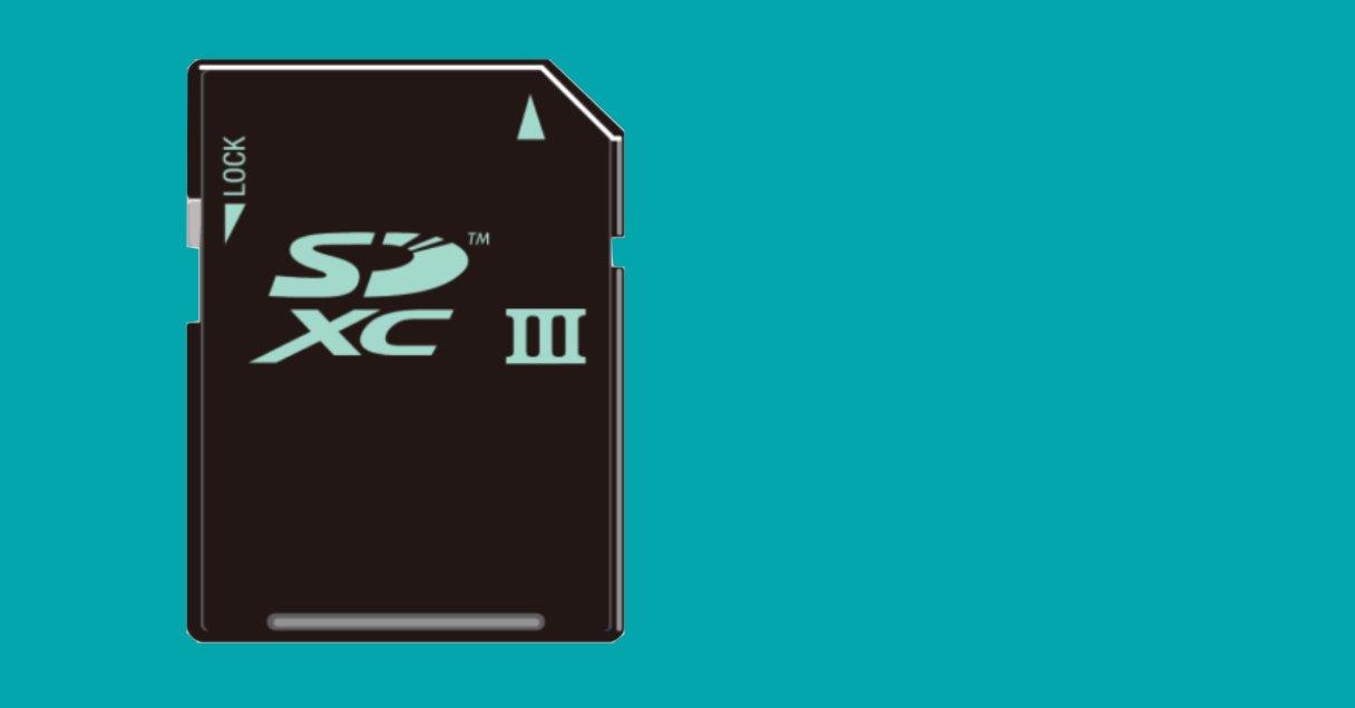 (micro)SD-Karten mit UHS-III tragen eine römische Drei