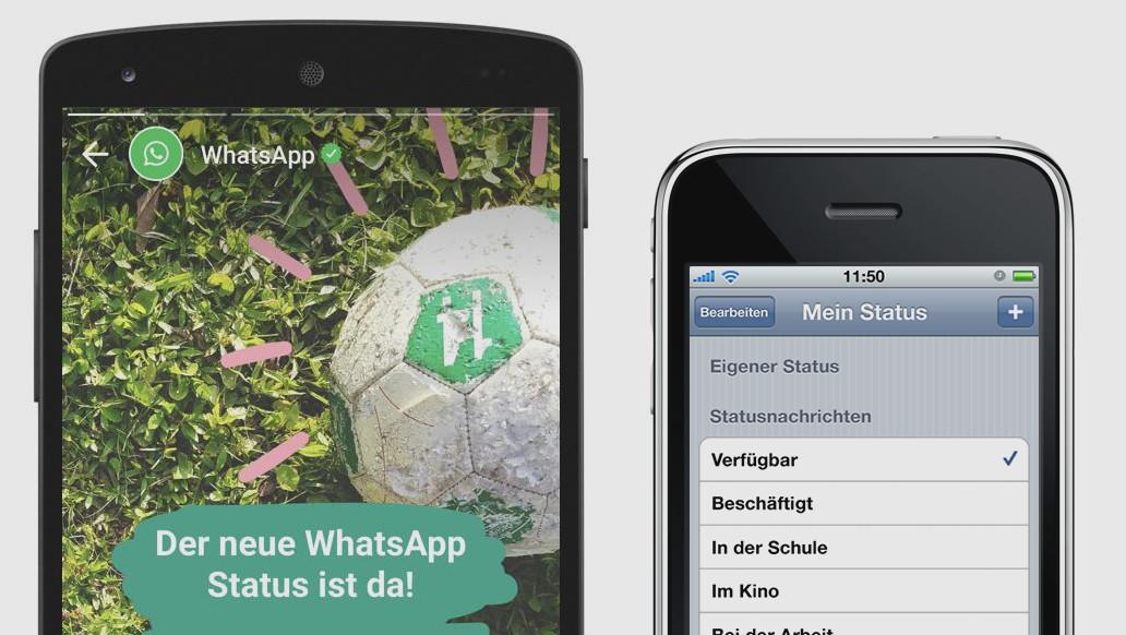WhatsApp: Alter Statustext steht als Tagline vor Comeback
